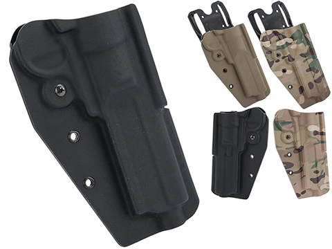 MC Kydex Airsoft Elite Series Pistol Holster for Elite Force H8R Revolver (Model: Black / No Attachment / Right Hand)