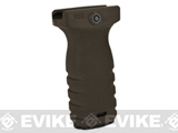 Mission First Tactical REACT Short Vertical Grip (Color: Scorched Dark Earth)