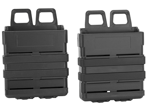 Avengers Fast Hard Shell Magazine Holster - 2x 7.62 X 51mm  Rifle Mag Configuration (Color: Black)