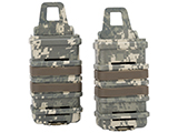 Fast Hard Shell Magazine Holsters Set of 2 for MP7 MP5 Pistol SMG (Color: ACU)