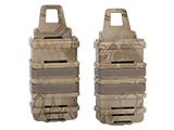 Fast Hard Shell Magazine Holsters Set of 2 for MP7 MP5 Pistol SMG (Color: Desert Serpent)