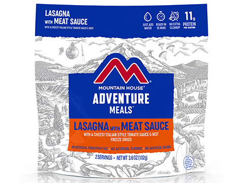 Mountain House Freeze Dried Camping Food (Menu: Lasagna with Meat Sauce / Entree)