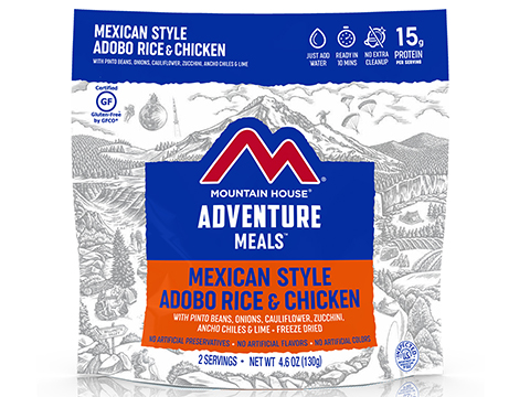 Mountain House Freeze Dried Camping Food (Menu: Mexican Style Rice and Chicken / Entree)