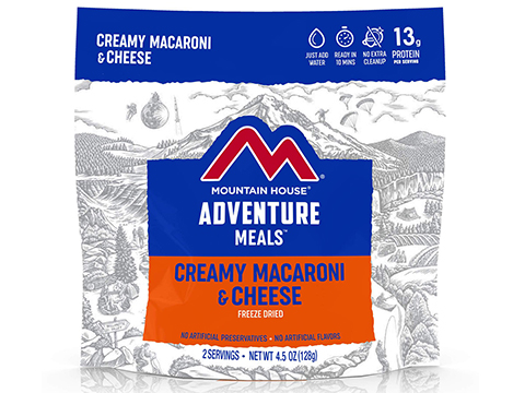 Mountain House Freeze Dried Camping Food (Menu: Macaroni and Cheese / Entree)