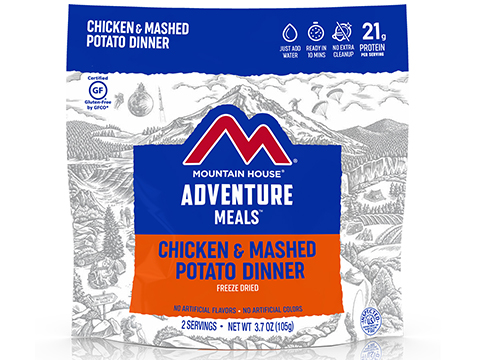 Mountain House Freeze Dried Camping Food (Menu: Chicken Breast and Mashed Potatoes / Entree)