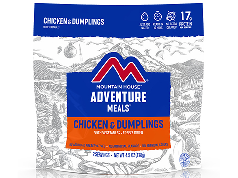 Mountain House Freeze Dried Camping Food (Menu: Chicken and Dumplings / Entree)
