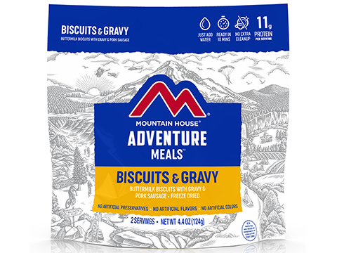 Mountain House Freeze Dried Camping Food (Menu: Biscuits and Gravy)