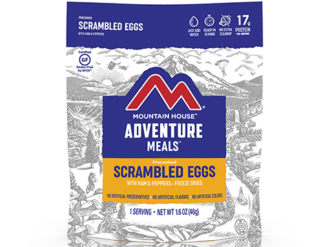 Mountain House Freeze Dried Camping Food (Menu: Scrambled Eggs with Ham and Peppers)
