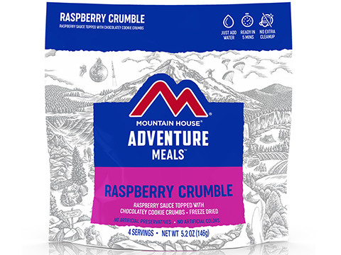 Mountain House Freeze Dried Camping Food (Menu: Raspberry Crumble / Dessert)