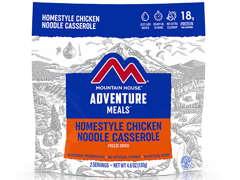 Mountain House Freeze Dried Camping Food (Menu: Chicken Noodle Casserole / Entree)