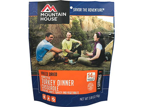 Mountain House Freeze Dried Camping Food (Menu: Homestyle Turkey Dinner Casserole / Entree)