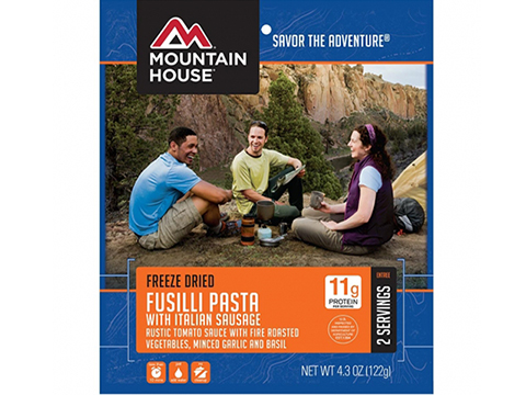 Mountain House Freeze Dried Camping Food (Menu: Fusilli Pasta with Italian Sausage / Entree)