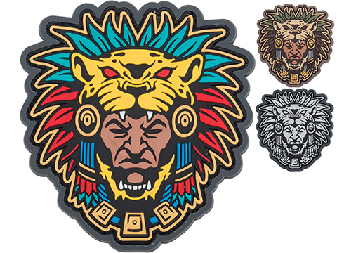 Mil-Spec Monkey Aztec Warrior Head 1 PVC Morale Patch (Color: Full Color)