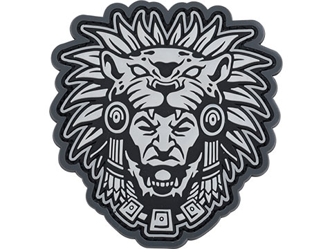 Mil-Spec Monkey Aztec Warrior Head 1 PVC Morale Patch (Color: Urban)