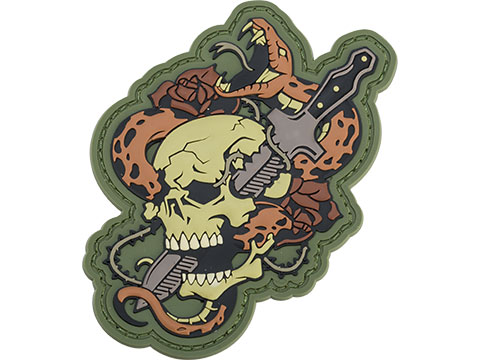 Mil-Spec Monkey Skull Snake 1 PVC Morale Patch (Color: Multicam)