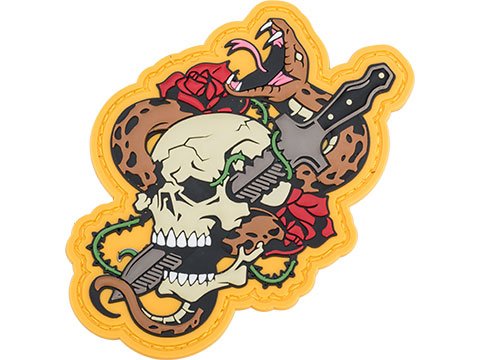 Mil-Spec Monkey Skull Snake 1 PVC Morale Patch