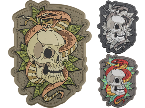 Mil-Spec Monkey Skull Snake 2 PVC Morale Patch (Color: Multicam)