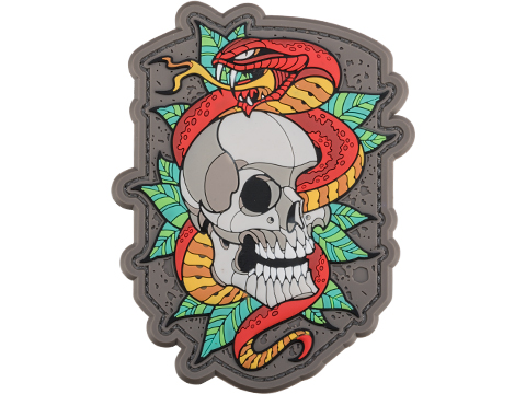 Mil-Spec Monkey Skull Snake 2 PVC Morale Patch (Color: Full Color)