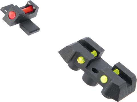 MITA Fiber Optic Sights for SIG Sauer ProForce M17 Series GBB Pistols (Type: Standard Height)