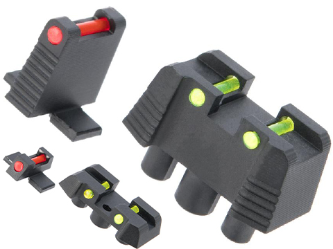 MITA Fiber Optic Sights for SIG Sauer ProForce M17 Series GBB Pistols (Type: Suppressor Height)