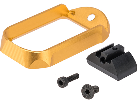 MITA CNC Aluminum Magwell for Elite Force GLOCK Series Airsoft Pistols (Type: Type A / Gold)
