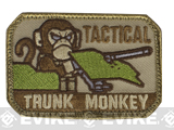 "Mil-Spec Monkey ""Tactical Trunk Monkey"" Velcro Patch - Desert"