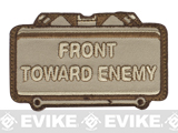 "Mil-Spec Monkey ""Front Toward Enemy"" Velcro Patch - Desert"
