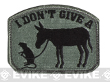 "Mil-Spec Monkey ""I Don't Give A Rat's Ass"" Velcro Patch - ACU Dark"