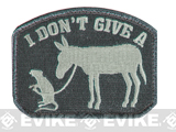 "Mil-Spec Monkey ""I Don't Give A Rat's Ass"" Velcro Patch - ACU Light"