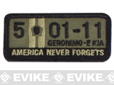 "Mil-Spec Monkey ""5-01-11"" Velcro Patch - Forest"