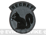 Mil-Spec Monkey Secret Squirrel Hook and Loop Patch (Color: Dark ACU)