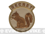 Mil-Spec Monkey Secret Squirrel Hook and Loop Patch (Color: Desert)