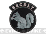 Mil-Spec Monkey Secret Squirrel Hook and Loop Patch (Color: SWAT)