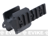 G&P Barrel Mount QD Sling Adapter w/ Side Rail for M870 Series Airsoft Shotguns - Black