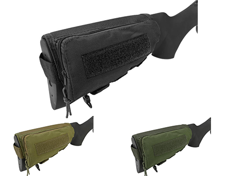 Modify Rifle Stock Ammo Pouch w/ Cheek Pad (Color: Black)