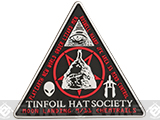 MoeGuns Tinfoil Hat Society PVC Morale Patch