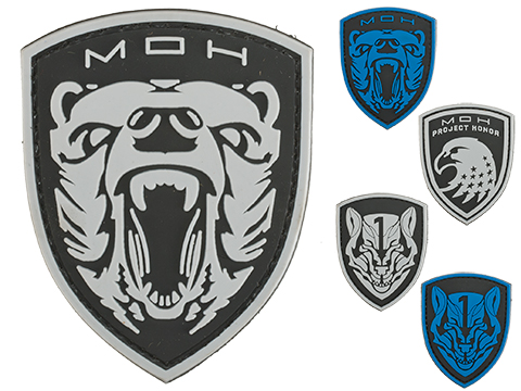 MOH PVC Morale Patch (Style: Grizzly / Black)