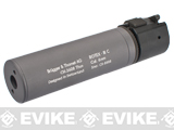 B&T Rotex-IIIA Compact Mock Silencer for M4 Series Airsoft Rifles (Color: Grey)