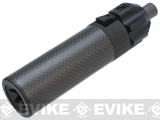 King Arms Mock Silencer Barrel Extension for KWA / KSC MP7 Series Airsoft GBB SMG's - Carbon / 145mm