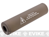 Matrix Airsoft Mock Silencer / Barrel Extension - 30 X 110mm (Style: Delta Force / Tan)