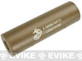 Matrix Op. High Speed Light Weight Airsoft Mock Silencer / Barrel Extension - 35 X 110mm (NATO) - Tan