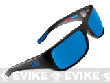 Pelagic PMG Fish Hook Polaraized Sunglasses - Matte Black Frame / Blue Glass Lenses