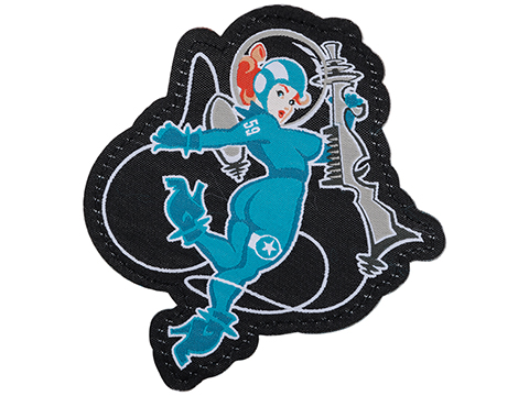 Mil-Spec Monkey Space Girl 1 Embroidered Morale Patch (Color: Blue)