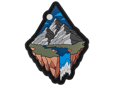 Mil-spec Monkey Mountain Diamond 1 PVC Moral Patch (Color: Grey)