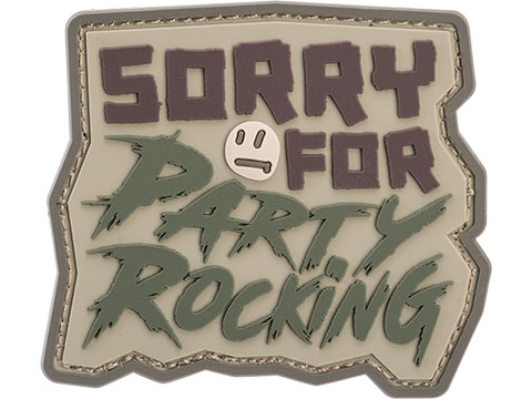 Mil-Spec Monkey Sorry For Party Rocking PVC Morale Patch (Color: Multicam)