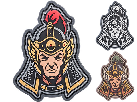 Mil-Spec Monkey Ming Dynasty Warrior Head 1 PVC Morale Patch (Color: Full Color)