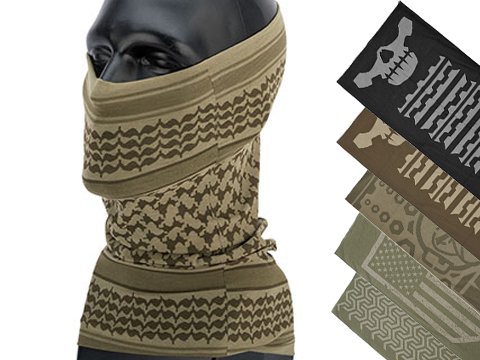 Mil-Spec Monkey Multi Wrap Neck Gaiter (Design: Shemagh / Dusty Brown)