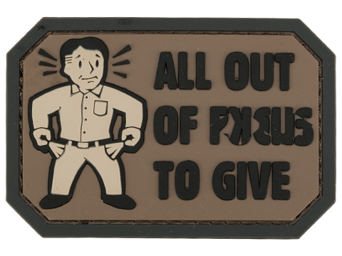 Mil-Spec Monkey All Out of F's PVC Morale Patch (Color: SWAT)