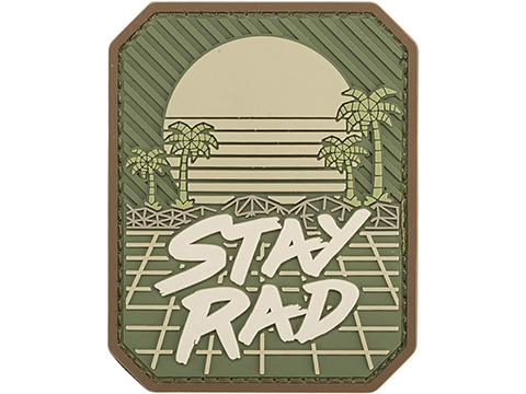 Mil-spec Monkey Stay Rad PVC Moral Patch (Color: Multicam)
