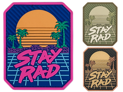 Mil-spec Monkey Stay Rad PVC Moral Patch (Color: Full Color)